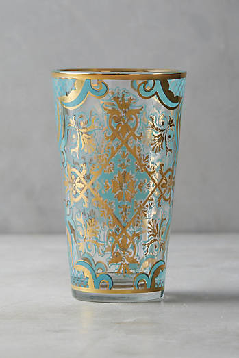 vaso azul dorado