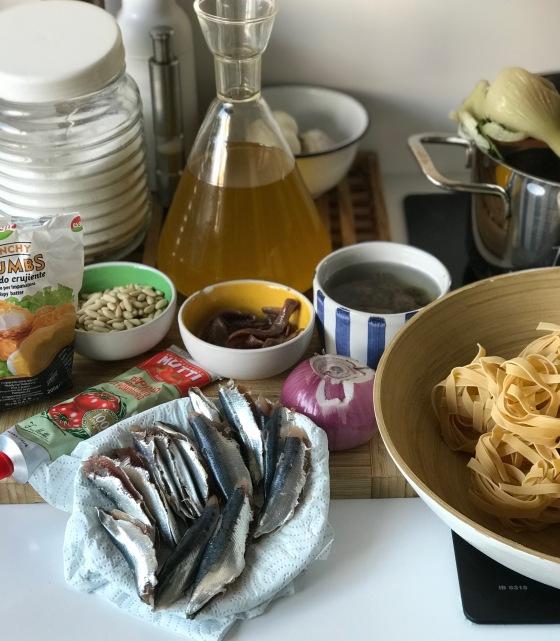 pasta sardinas